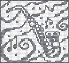 Ravelry: Alto Saxophone Knitting Chart pattern by Melanie Nordberg