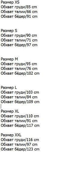Примерные Мерки для Размера Одежды…