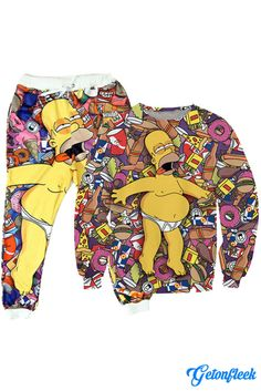Homer Simpson Tracksuit - Shop our entire collection of all-over-print apparel! www.getonfleek.com
