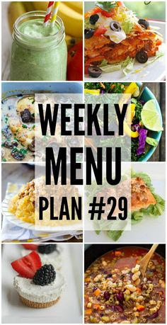 Weekly Menu Plan - great dinner recipes to help you plan your weekly meals!