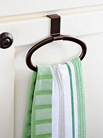 Over The Cabinet Towel Holder by Solutions