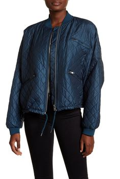 Image of Free People Quilted Bomber Jacket