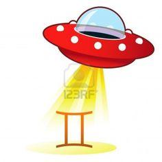 Icona zodiaco Gemelli astrologia segno sul retro disco volante ufo con fascio di luce.