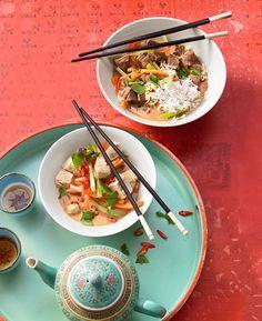 Thai - Red - Curry mit Hähnchen und Kokosmilch