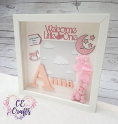 personalised baby frame letter frame baby name baby gift