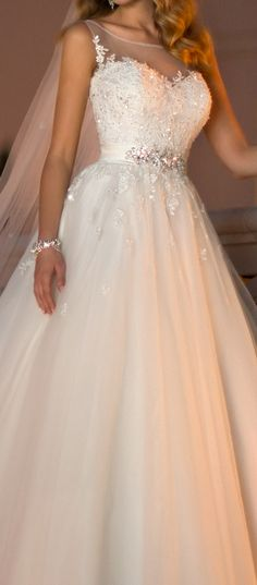 We really need to renew our vows so I can wear this amazing dress!!!!  Stella York #5841
