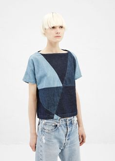 Totokaelo - Rachel Comey Denim Composite Top