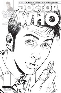 doctor who 10th 1 subscription variant cover the tenth doctor is back coloring sheetscoloring