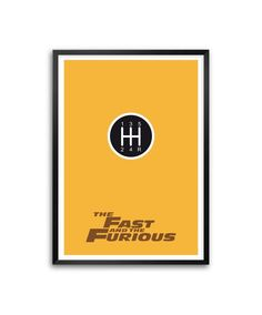 """Amazon.com: The Fast and the Furious Action Movies Minimalist Poster in A3 (16.5"""" X 11.7"""") (Framed Poster): Posters & Prints"""