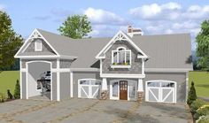 Garage with RV Parking and Observation Deck - 20126GA thumb - 01