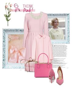 """Think Pink Like A Stepford Wife!"" by the-house-of-kasin ❤ liked on Polyvore featuring Balmain, Emilia Wickstead, Dolce&Gabbana, Chinese Laundry, Majorica, breastcancer, breastcancerawareness and breastcancerawarenessMonth"