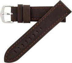 26mm Hirsch Terra Brown Textured Genuine Leather Mens Watch Band Strap 0463 30