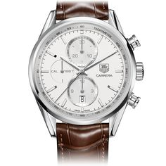 Tag Heuer CARRERA CALIBRE 1887AUTOMATIC CHRONOGRAPH41 mm Silver ALLIGATOR bracelet | TAG Heuer