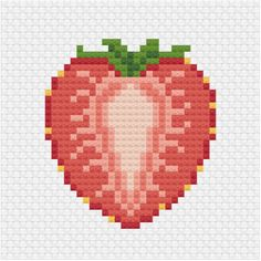 An other addition to the sliced fruit cross stitch patterns series for my patrons Sliced strawberry cross stitch pdf pattern - Ringcat Cross Stitch Fruit, Small Cross Stitch, Beaded Cross Stitch, Modern Cross Stitch, Cross Stitch Designs, Cross Stitch Embroidery, Cross Stitch Patterns, Cross Stitch Flowers Pattern, Kawaii Cross Stitch