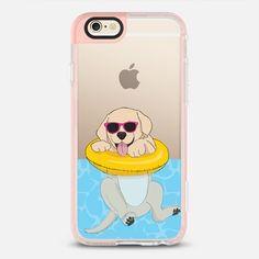 Swimming Yellow Labrador - New Standard Pastel Case