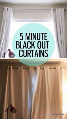 Sewing Ideas for the Home | DIY Blackout Curtains Tutorial at http://diyjoy.com/quick-sewing-projects-diy-ideas