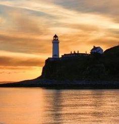 Davvar Island Lighthouse, Scotland Scenery
