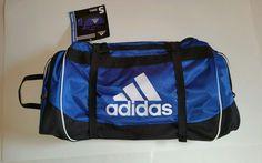 Adidas Defender Duffel Bag, Small, Blue/White/Black NWT sports/travel/school/gym #adidas #defender #duffel #royalblue #blue #NWT #newwithtags #sportsbag #travelbag #schoolbag #gymbag