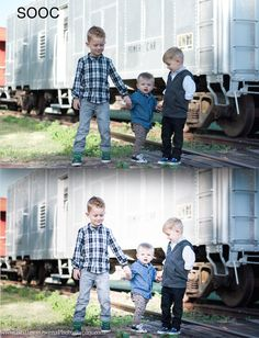 Brittney Owens Photography: Larimer Family Session {Fort Smith AR Photographer} Black and white photography and color images of an outdoor family session. Great ideas for how to dress at a family photo session. Children photography. Train themed.