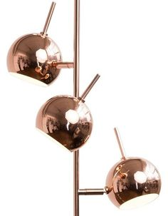The Austin Floor Lamp in Copper. Inspired by the 60s and 70s with a retro twist on the copper trend. £79 | MADE.COM