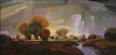 "Contemporary Painting - ""Veiled by Rain"" (Original Art from Mac Stevenson)"
