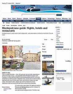 """Daily Telegraph, Sept. '10 - #Montepulciano Guide. """" (..) the Locanda di San Francesco, run by the  family that owns the top-notch #Valdipiatta winery and housed in a former oratory  attached to the church of the same name, has to be the number-one hotel  choice. Decorated in warm, antique style, the four bedrooms all have  spectacular views out across the walls to the surrounding countryside."""" (credits to #DailyTelegraph) www.locandasanfrancesco.it"""