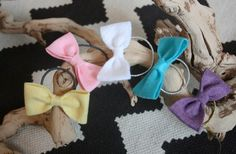 Adorable, and only $2.50!!   #GroopDealz | Chubby Felt Bow Pony
