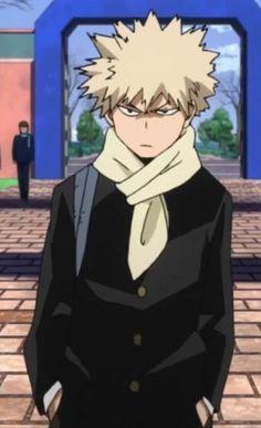 Am I the only one that thinks Bakugou looks great with a scarf! My Hero Academia Memes, Buko No Hero Academia, Hero Academia Characters, My Hero Academia Manga, Anime Characters, Kirishima Eijirou, Tsundere, Cute Gay, Anime Boyfriend