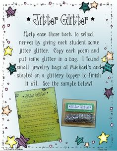 It is a graphic of Luscious Jitter Glitter Poem Printable