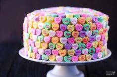 Cute for valentines day!! Strawberries and Cream 'Heart' Cake | gimmesomeoven.com