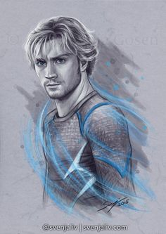 "svenjaliv: "" ""Quick Little Bastard "" Pietro Maximoff aka Quicksilver. art 