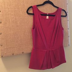 Bailey 44 Red Peplum Tank The perfect peplum for work or a night on the town- worn once! Bought at Anthropologie. Anthropologie Tops Tank Tops