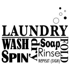 Laundry Word Collage