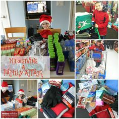 How to make GIVING a family affair! Involve your kids in the giving process this holiday season!