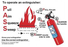 August Fire Safety Tip - How to Use a Fire Extinguisher  #FireExtinguisher #FireSafety