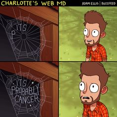 Funny pictures about Charlotte's Web MD . Oh, and cool pics about Charlotte's Web MD . Also, Charlotte's Web MD photos. Adam Ellis Comics, Funny Images, Funny Pictures, Tastefully Offensive, Charlottes Web, Cool Iphone 6 Cases, You Funny, Funny Stuff, It's Funny