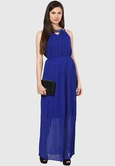 30c1619caea Buy Harpa Blue Colored Solid Maxi Dress Online - 3423756 - Jabong