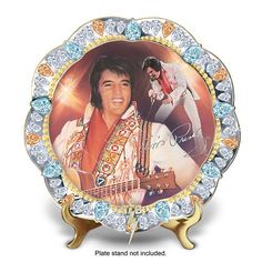 Gem Of Rock And Roll Porcelain Collector Plate: The Bradford Exchange