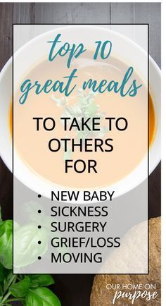 meals to take to others someone new moms after surgery grieving sick moving neighbor easy recipes Make Ahead Meals, Quick Meals, New Mom Meals, Meals To Freeze, Family Meals, No Cook Meals, Medan, Take A Meal, Baby Food Recipes