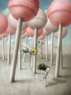 Nicoletta Ceccoli is an Italian Artist who is known for her richly detailed, dreamlike work. She was born in and still lives in the Republic of San Marino and studied animation at the Institute of Art in San Marino, Italy.