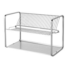 "IKEA - ORDNING, Dish drainer, Holds large plates with a dia. up to 13"" as well."