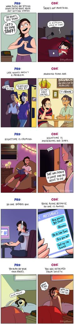 Pros and Cons of Being a Night Owl<<<or an Otaku lol