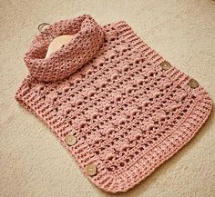 Rose Poncho - Pullover Crochet pattern by Mon Petit Violon Crochet Baby Poncho, Crochet Baby Clothes, Crochet Yarn, Crochet Hooks, Girls Poncho, Baby Girl Cardigans, Baby Sweaters, Poncho Pullover, Crochet Baby Dresses