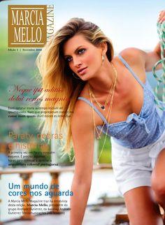 Marcia Mello Magazine - Projeto gráfico  Projeto gráfico de revista de apoio de vendas e marketing da rede de lojas Márcia Mello.  Graphic design of magazine of support of sales and marketing of the chain stores Márcia Mello.