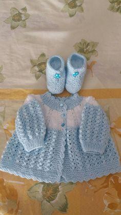 First Size Baby Girl Matinee Jayapılışıc - Diy Crafts - Marecipe Baby Cardigan Knitting Pattern Free, Baby Sweater Patterns, Baby Boy Knitting, Baby Girl Crochet, Crochet Baby Cardigan, Baby Knitting Patterns, Baby Patterns, Hand Knitting, Crochet Patterns