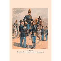 Buyenlarge Enlisted Men, Cavalry and Infantry (Full Dress) by H.A. Ogden Painting Print