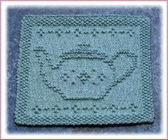 """Little Praying Cherub"" ""Tea Pot"" ""Little Dancer"" Knit Dishcloth Pattern"