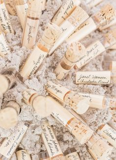 message in a bottle escort cards   Rodeo & Co #wedding