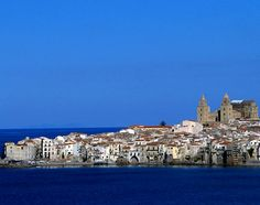 Sicily, Italy, Europe: The small port of Cefalù, Sicily.