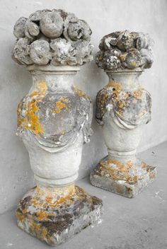 17th c. Stone Paniers de Fruits. Chateau Domingue Houston TX.  Lovely!